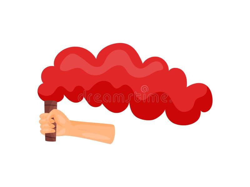 Rode rook ter beschikking Vector illustratie op witte achtergrond vector illustratie