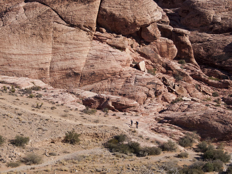 Rode Rotscanion dichtbij Las Vegas Nevada stock fotografie