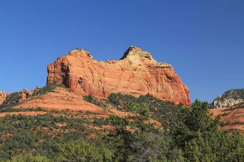 Rode Rotsvorming in Sedona Arizona royalty-vrije stock foto