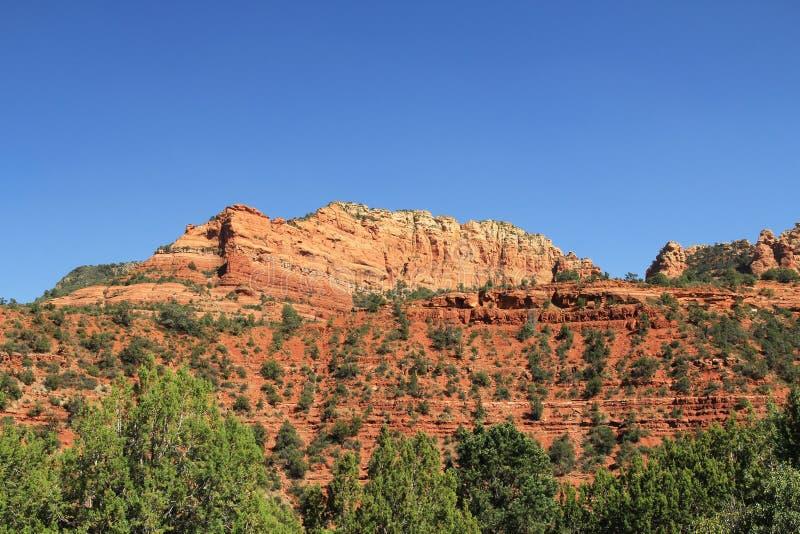 Rode Rotsvorming in Sedona Arizona stock afbeelding