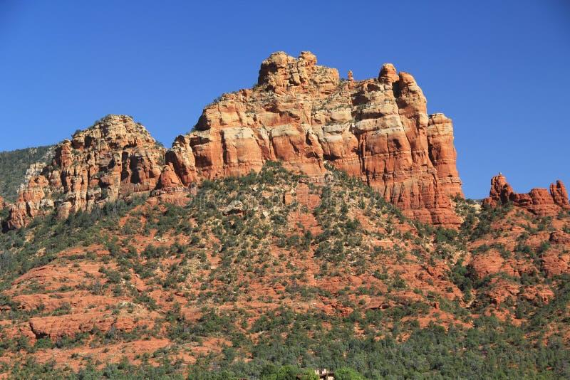 Rode Rotsvorming in Sedona Arizona royalty-vrije stock afbeeldingen