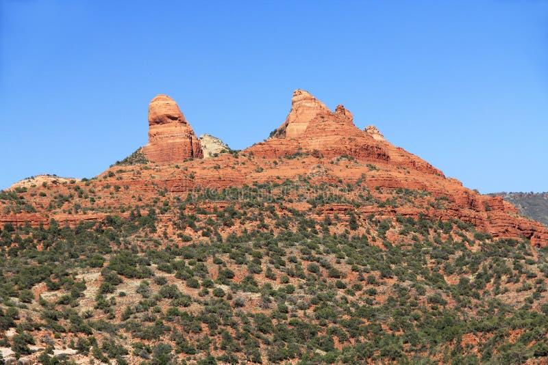 Rode Rotsvorming in Sedona Arizona stock foto