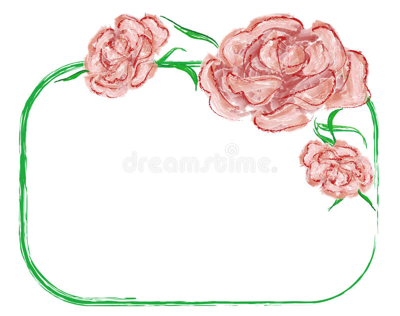 Rode rozen royalty-vrije illustratie