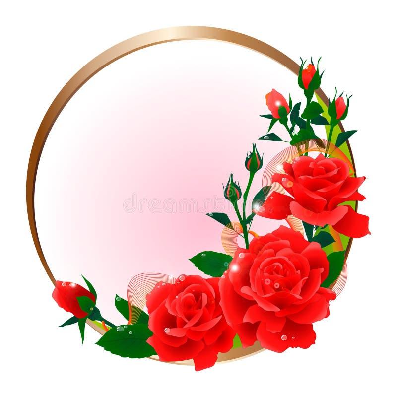 Rode rozen vector illustratie