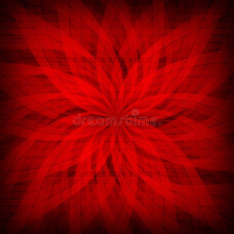 Rode rozet - gevormde achtergrond vector illustratie