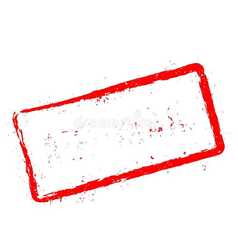 Rode rubberdiezegel per luchtpost op wit wordt geïsoleerd royalty-vrije illustratie