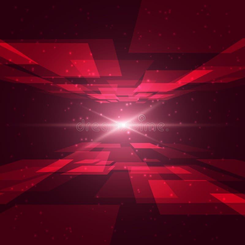 Rode ruimte stock illustratie