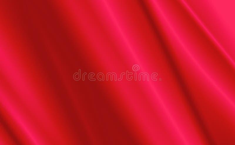 Rode Satijn en zijdedoek voor backgorund royalty-vrije stock afbeelding