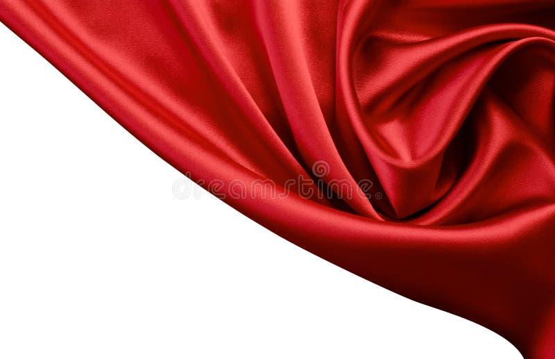 Rode satijn of zijdeachtergrond royalty-vrije stock afbeelding