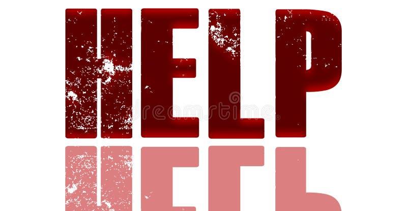 Rode Satijnhulp met bezinning stock foto