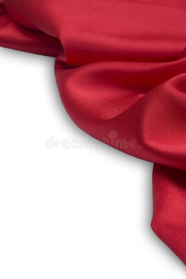 Rode satijnstof stock fotografie