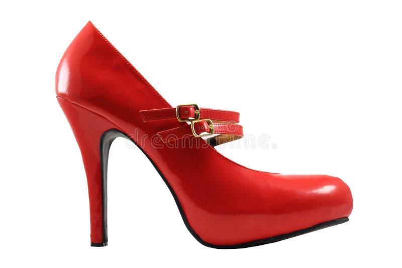 Rode schoen stock fotografie