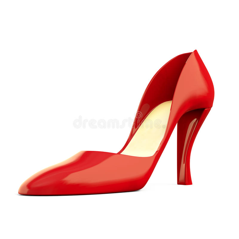 Rode Schoen op wit stock illustratie