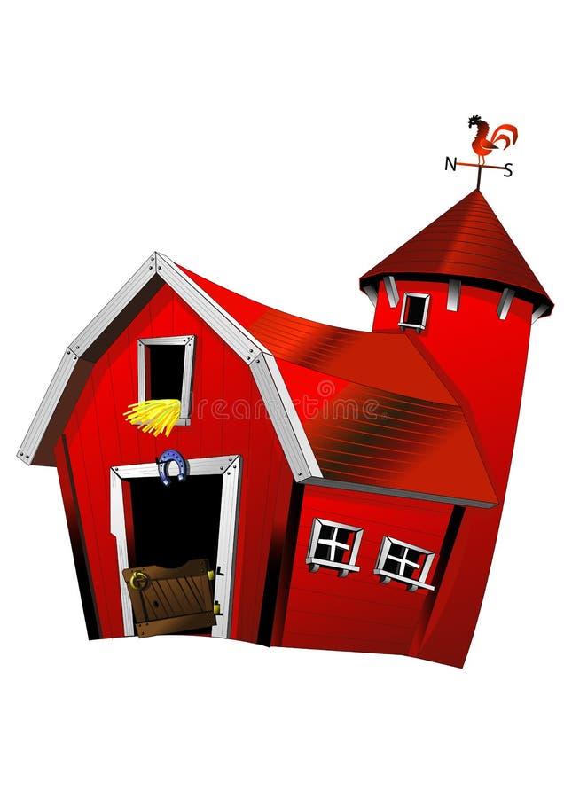 Rode schuur stock illustratie