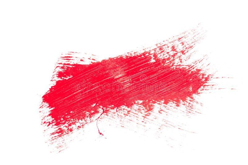 Rode slag van de verfborstel royalty-vrije stock afbeelding