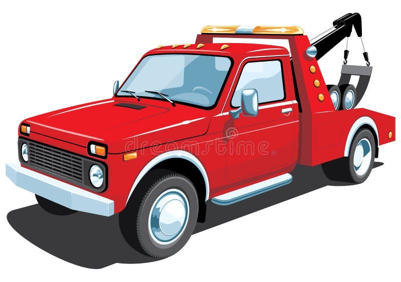 Rode slepenvrachtwagen