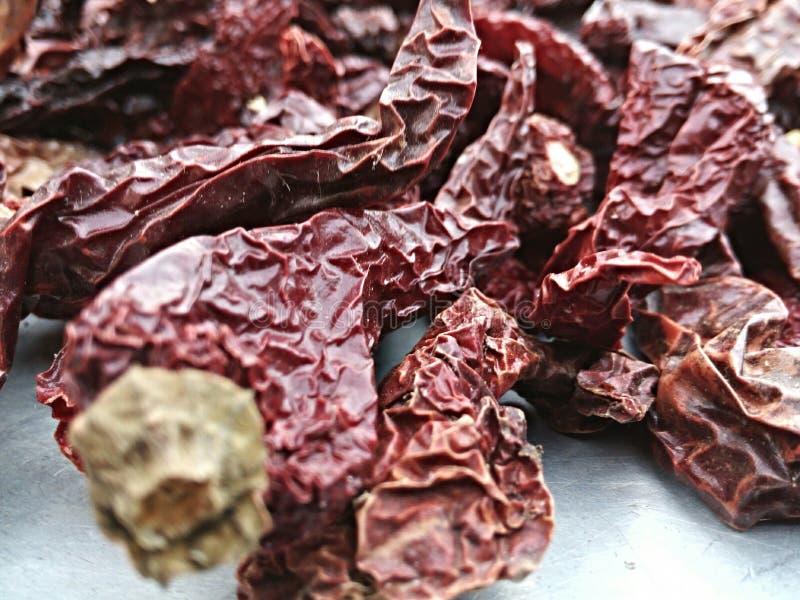 Rode Spaanse pepers stock afbeeldingen