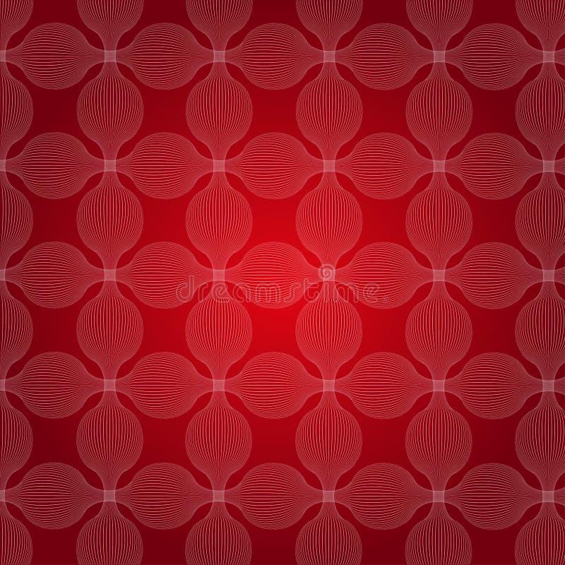 Rode spiralen vector illustratie