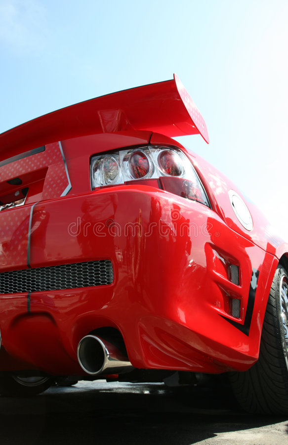 Rode sportwagen stock fotografie