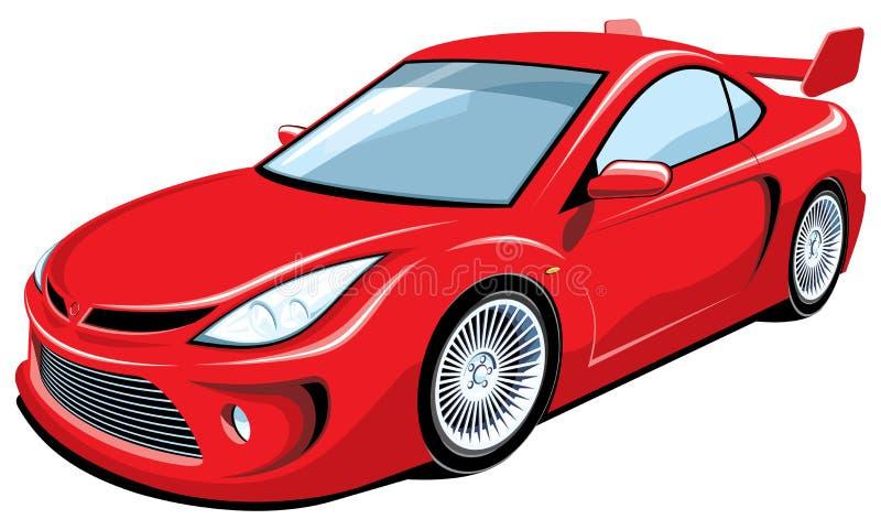 Rode sportwagen royalty-vrije illustratie