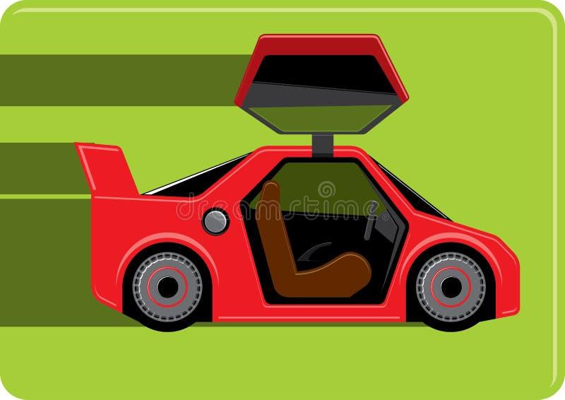 Rode sportwagen stock illustratie