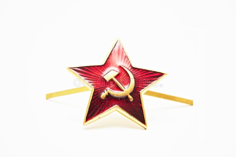 Rode ster met een sikkel en een hamer van de USSR royalty-vrije stock afbeelding
