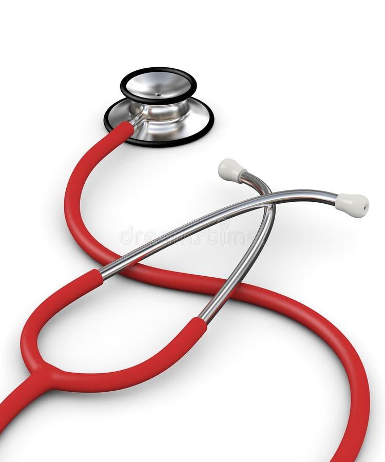 Rode stethoscoop royalty-vrije stock afbeelding