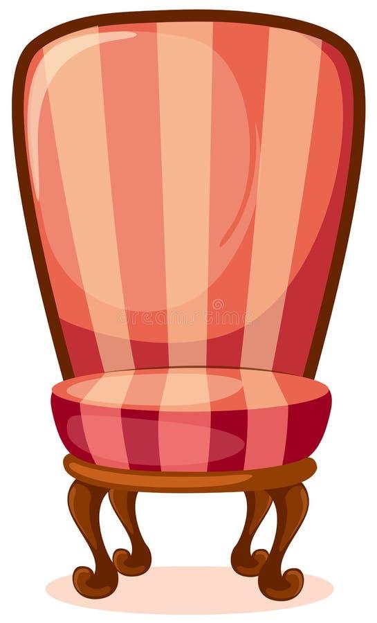 Rode stoel stock illustratie
