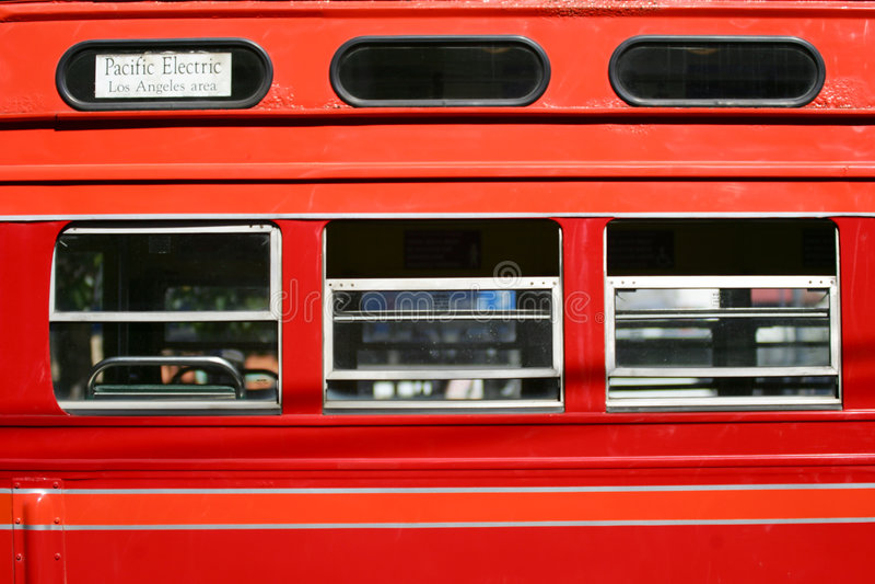 Rode straatauto stock afbeelding