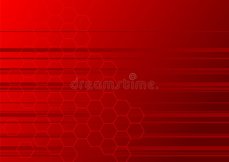 Rode strepen vector illustratie