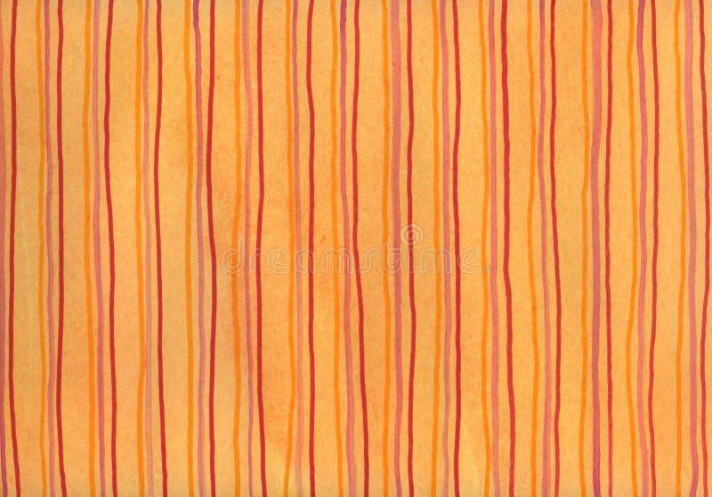 Rode strepen op oranje achtergrond stock afbeeldingen