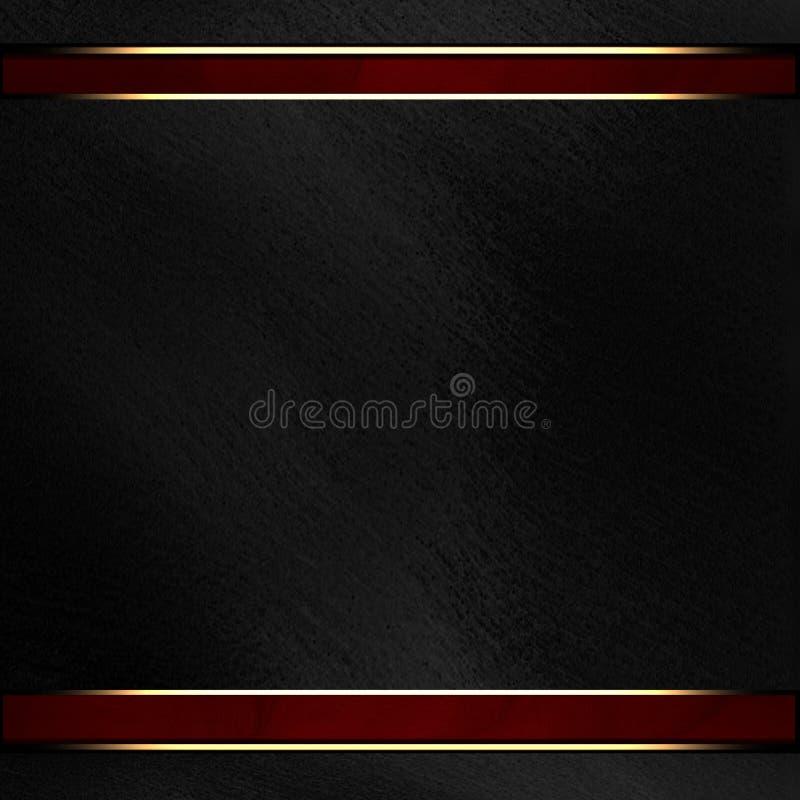 Rode strook op een zwarte achtergrond stock foto's