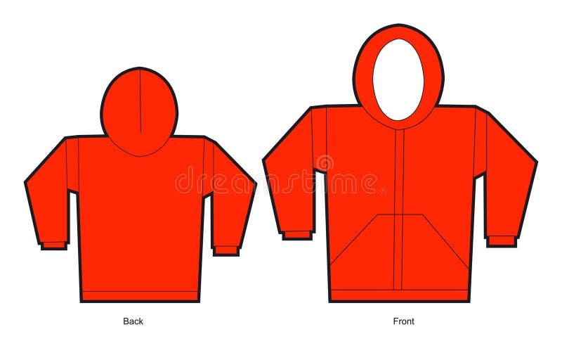 Rode sweater royalty-vrije illustratie