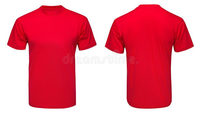 Rode t-shirt, kleren op geïsoleerd vector illustratie