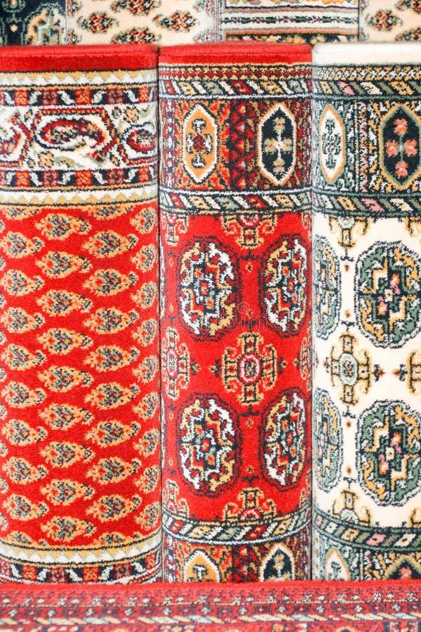 Rode tapijten royalty-vrije stock afbeelding