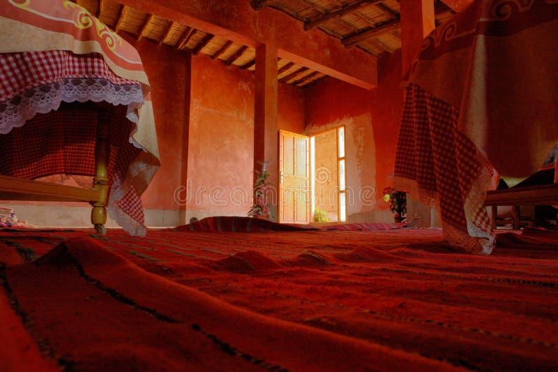 Rode tapijten royalty-vrije stock afbeeldingen