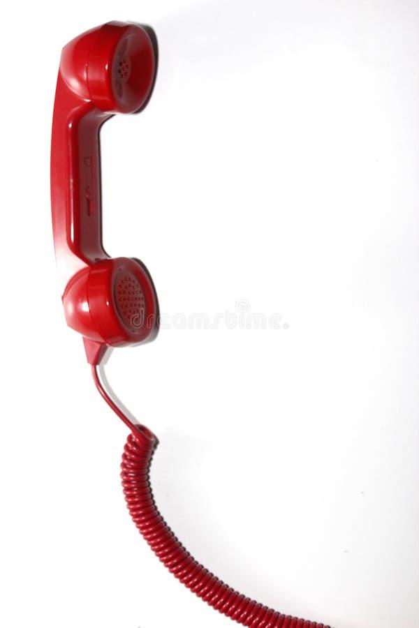 Rode telefoon royalty-vrije stock foto's