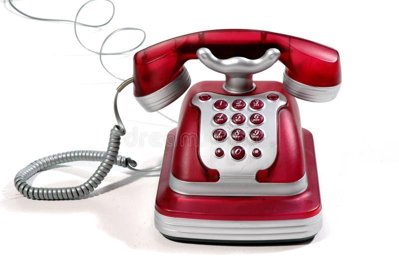 Rode Telefoon 4 royalty-vrije stock fotografie