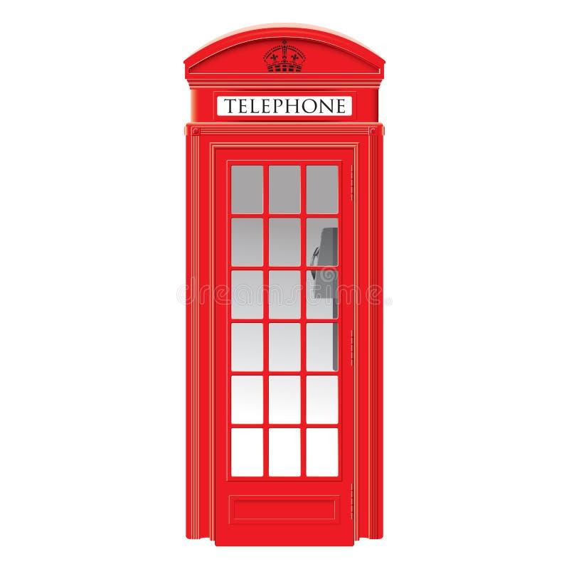 Rode telefooncel - zeer gedetailleerd Londen - royalty-vrije illustratie