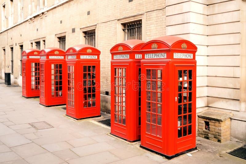 Rode telefoondozen Londen royalty-vrije stock foto