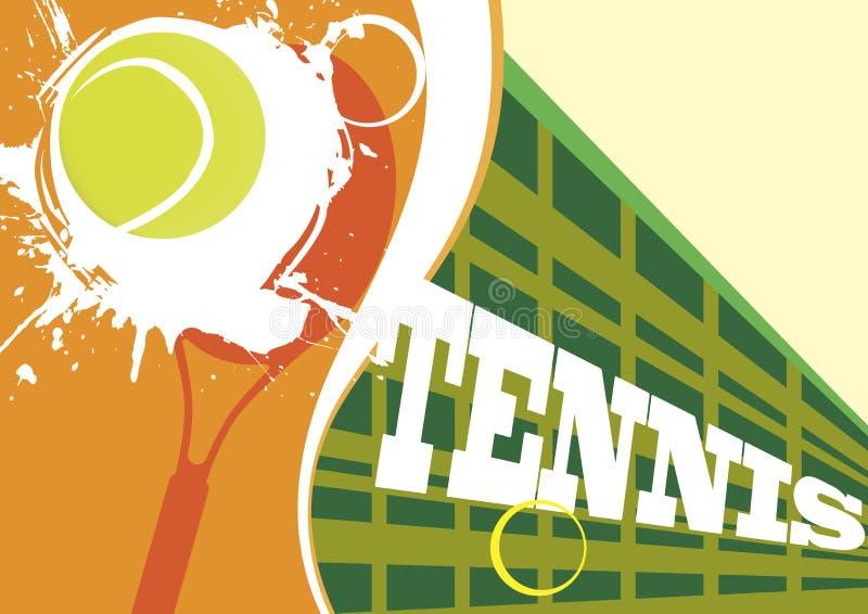 Rode tennisbaan stock illustratie