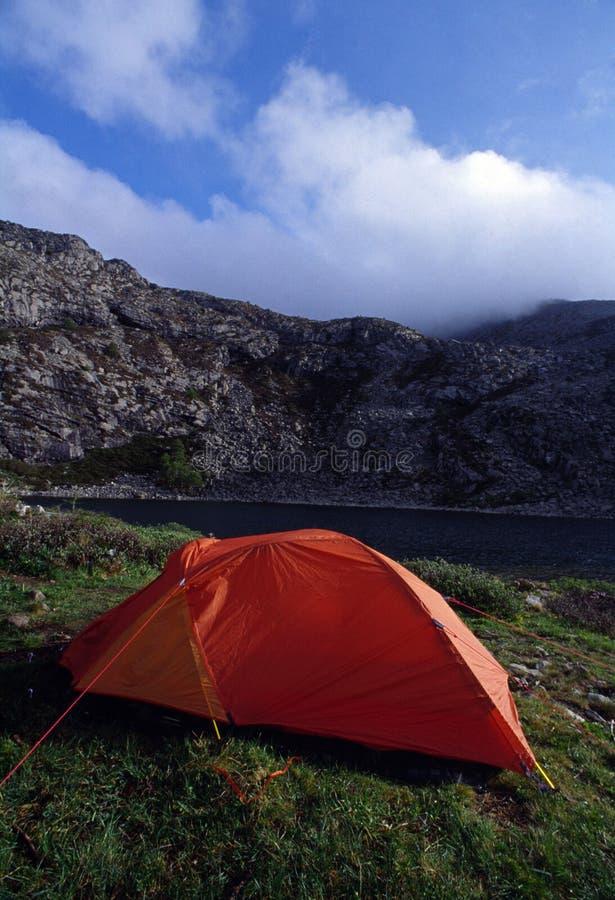 Rode tent stock afbeeldingen