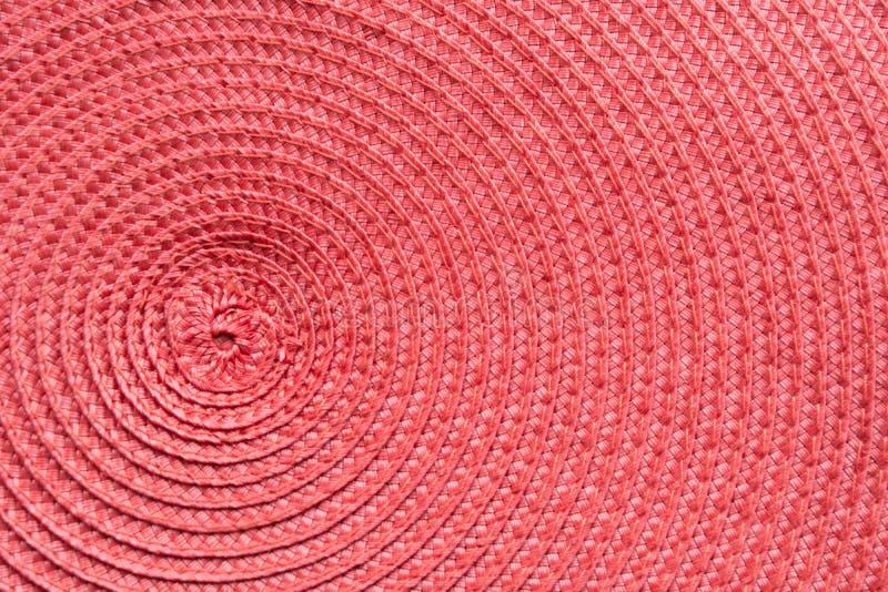 Rode textiel als patroon Textuur Achtergrondoppervlakte royalty-vrije stock foto's