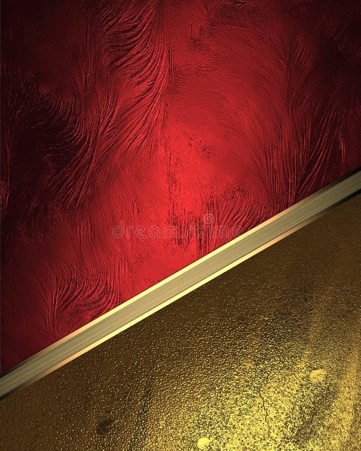 Rode textuur met gouden ornamenten Element voor ontwerp Malplaatje voor ontwerp exemplaarruimte voor advertentiebrochure of aanko stock afbeeldingen
