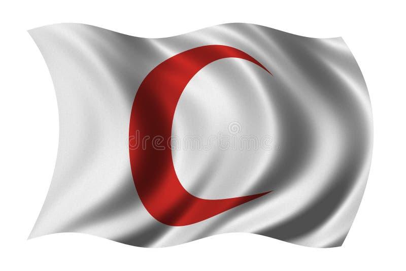 Rode Toenemende Vlag stock illustratie