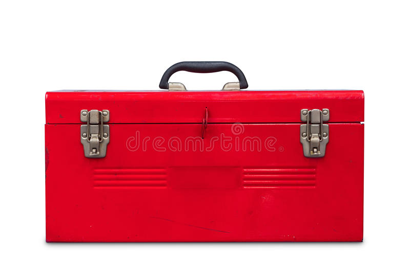 Rode Toolbox royalty-vrije stock foto
