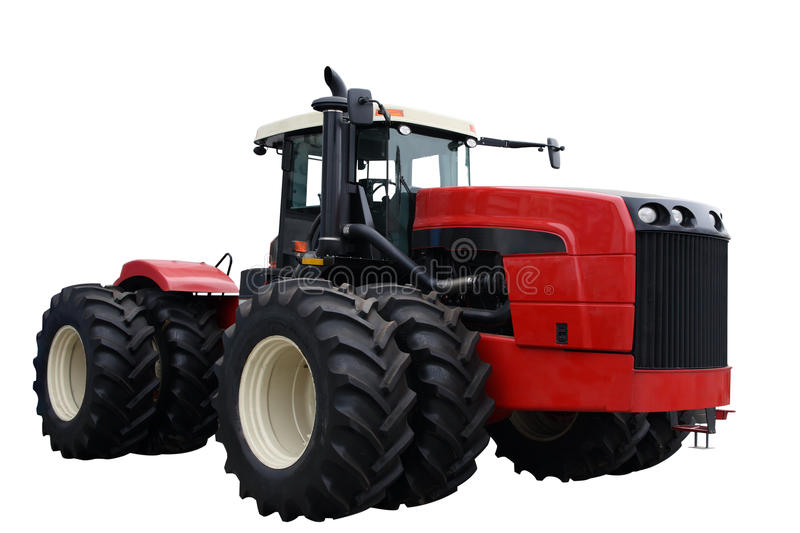 Rode tractor stock foto