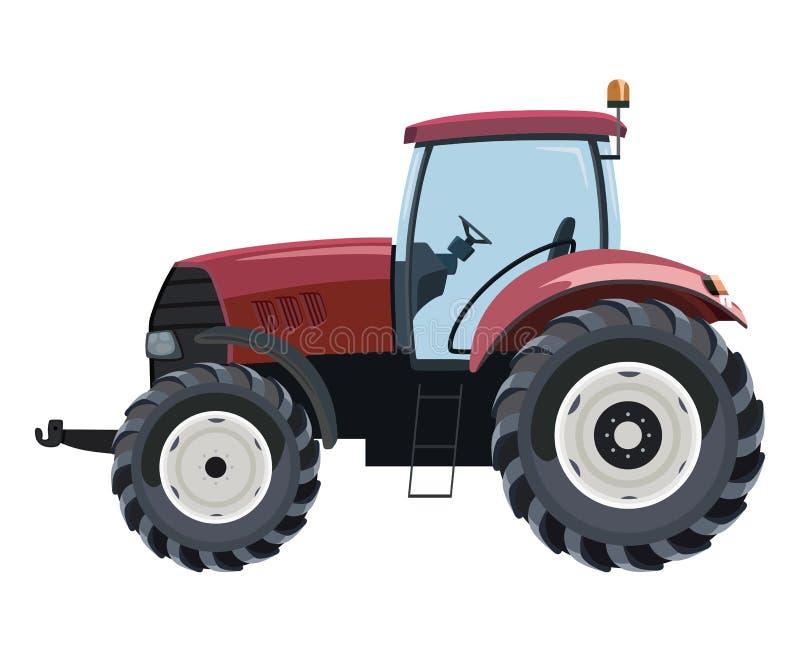 Rode Tractor stock illustratie