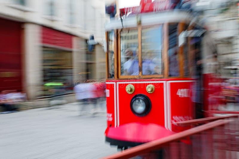 Rode tram van Istanboel royalty-vrije stock foto