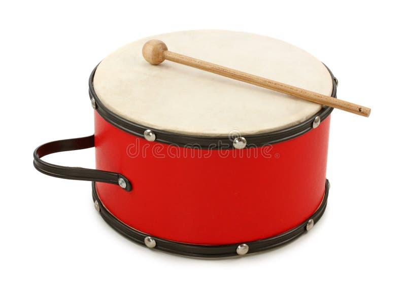 Rode trommel royalty-vrije stock afbeelding